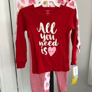 Carter's 2T 4pc PJ Set NWT